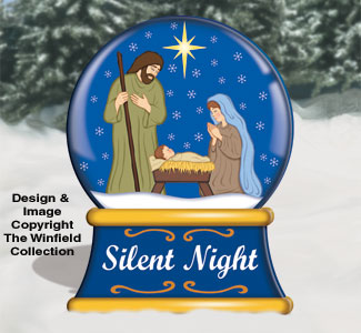 Medium Silent Night Snow Globe Color Poster