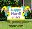Mardi Gras Sign Woodcraft Pattern