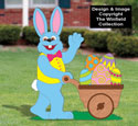 Easter Bunny with Cart Woodcraft Pattern