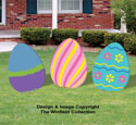 Enormous Easter Eggs Wood Pattern Set