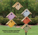 Pallet Wood Stacked Birdhouses Plan