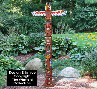 Small American Indian Totem Pole Plans