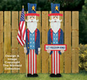 Pallet Wood Uncle Sam Pattern