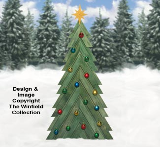 All Christmas Pallet Wood Fir Tree Pattern