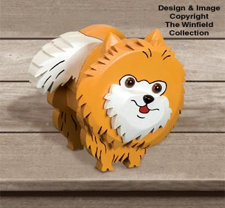 Layered Pomeranian Woodcraft Pattern