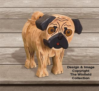 Layered Pug Woodcraft Pattern