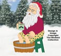 Soaking Santa Woodcraft Pattern