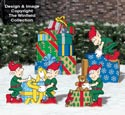 Gift Wrapping Elves Color Poster