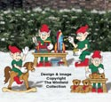 Toy Making Elves Color Poster