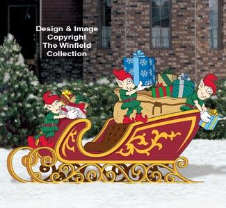 Packing Santa's Sleigh Woodcraft Pattern