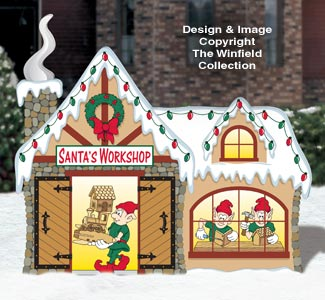 North Pole Santa's Workshop Pattern
