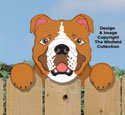 Bulldog Fence Peeker Pattern