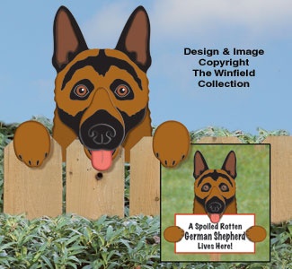 German Shepherd Fence Peeker Pattern