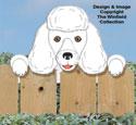 Poodle Fence Peeker Pattern