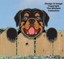 Rottweiler Fence Peeker Pattern