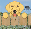 Labrador Retriever Fence Peeker Pattern