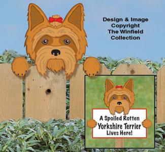 Yorkshire Terrier Fence Peeker Pattern