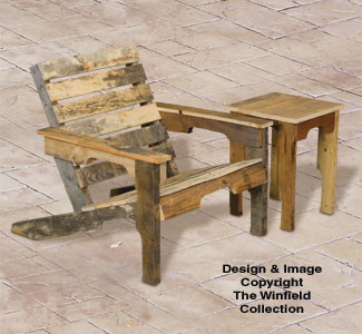 Pallet Wood Adirondack Chair and Table Plan