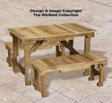 Pallet Wood Table and Benches Plan