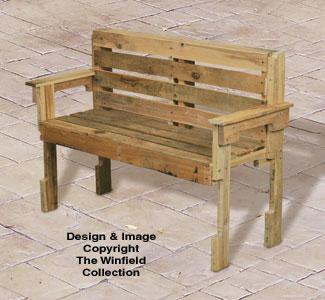 Pallet Wood Bench Plan
