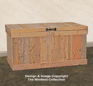 Pallet Wood Storage Chest Plan