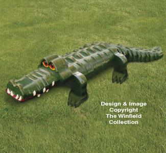 3D Monster Layered Alligator Pattern