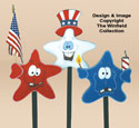 Large Patriotic Stars Woodcraft Pattern