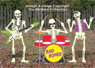 Skeleton Rock Band Woodcraft Pattern