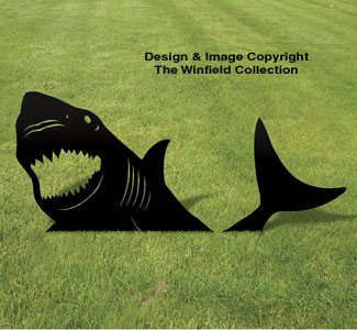 Animals yard shark shadow woodcraft pattern for Yard shadow patterns