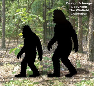 Bigfoot Female & Child Woodcraft Pattern