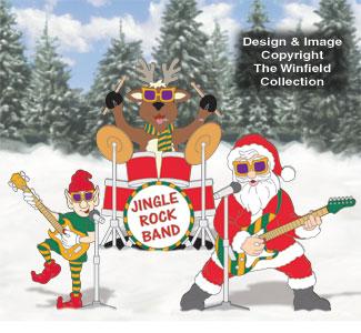 Jingle Rock Band Color Poster