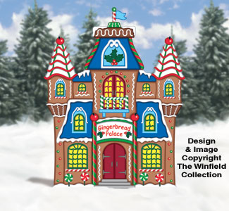 Gingerbread Palace Woodcraft Pattern