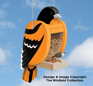 Baltimore Oriole Bird Feeder Pattern
