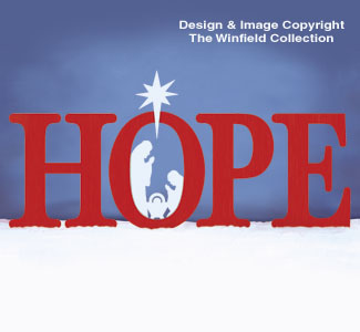 Huge HOPE Nativity Pattern