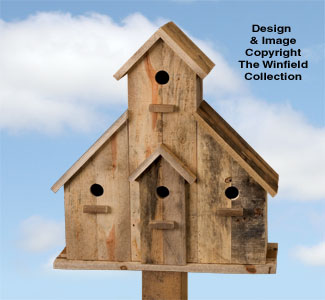 Pallet Wood 4-Room Birdhouse Plan