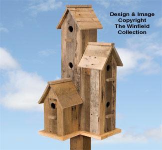 Pallet Wood 6-Room Birdhouse Plan