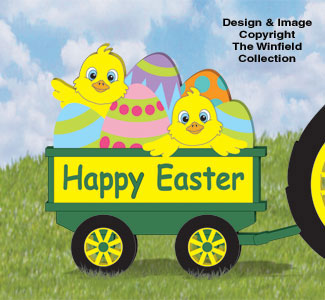 Easter Wagon Woodcrafting Pattern