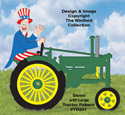Uncle Sam Tractor Driver Pattern
