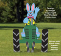 Waving Bunny (Front View) Woodcraft Pattern