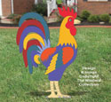 Large Proud Yard Rooster Woodcraft Pattern