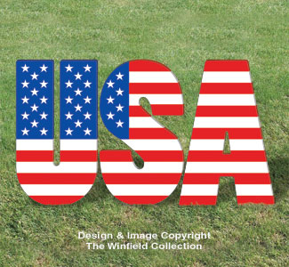 Giant Patriotic USA Display Pattern