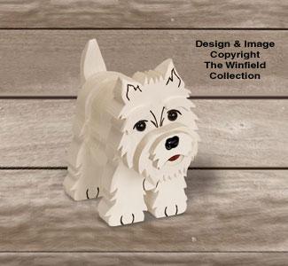 Layered Westie Terrier Pattern