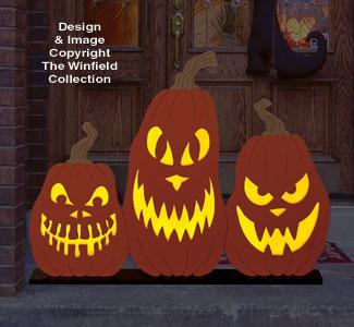 Scary Pumpkin Trio Pattern