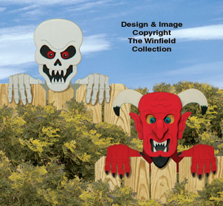 Skeleton & Devil Fence Peekers Pattern