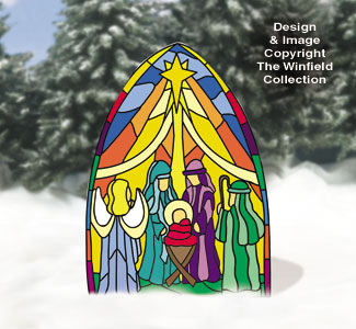 Large Dazzling Nativity Color Poster