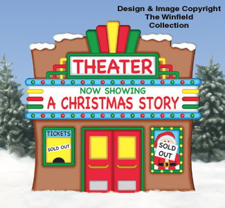 Gingerbread Movie Theater Woodcraft Pattern