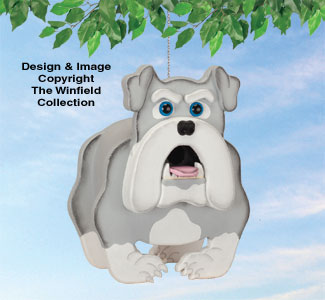Bulldog Birdhouse Pattern