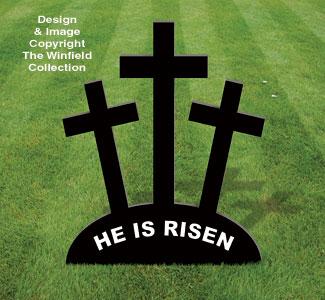 Large Three Crosses Easter Pattern