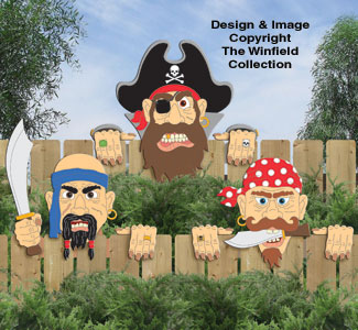 Pirate Fence Peekers Pattern