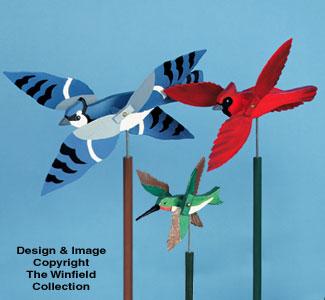 11 Wild Bird Whirligigs Wood Project Plan